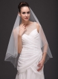 Two-tier Tulle Drop Veil For Wedding