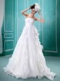 2013 Ruffles A-line Wedding Dress For Custom Made