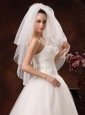 Beautiful Organza and Three-tier Veil For Wedding