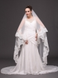 Lace Appliques One-tier Cathedral Tulle Popular Wedding Veils