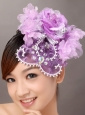 Lavender Organza Rhinestone Wedding Fascinators