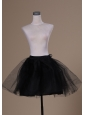 Lovely Mini-length Black Organza Petticoat