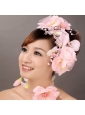 Lovely Taffeta Hand Made Flowers Beading Lace Fascinators