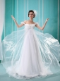 Luxurious Off The Shoulder Wedding Dress With Ruch and Beading In Wedding Party