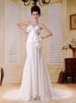 Mermaid Custmize Wedding Dress With Sweetheart Neckline Ruch Decorate