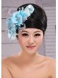 Light Blue Pearl Exclusive Taffeta and Organza Fascinator