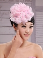 Pink Chiffon Beading Bud Silk Fascinators For Wedding