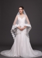 Royal Discount Organza Bridal Veil For Wedding