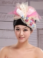 Tulle and Bud Silk Headdress Flower With Beading For Bride New Arrival