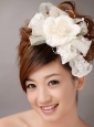 Imitation Pearls Flower Sweet Tulle Wedding and Outdoor Fascinators
