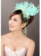 Lovely Feather Organza Beading Fascinators
