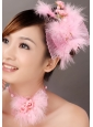 Lovely Tulle Feather Flower Women' s Fascinators