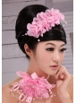 Popular Organza Pearl Multilayer Hair Combs For Party