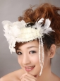 White Feather Wedding and Outdoor Lace Women' s Fascinators