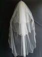 Beading Decorate Tulle Three Layers Graceful Wedding Veils