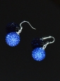 Blue Round Rhinestone Brand New Earrings
