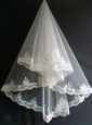 Beautiful Lace Appliques Tulle Wedding Veils