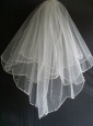 Little Pearl Decorate Tulle Wedding Veils