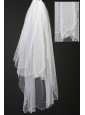 Organza Pearl Trim Edge Wedding / Bridal Veils