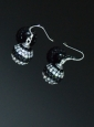 Popular Rhinestone Round Black and White Earrings