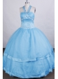 Discount Ball Gown Flower Girl Dress Halter Beading  Floor-length