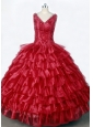 Luxurious Little Girl Pageant Dresses With Ruffled Layers and Beading