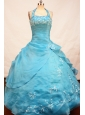Wonderful Appliques Decorate Ball Gown Flower Girl Dress Halter Floor-length