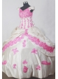 Fashionable Appliques Ball Gown Off The Shoulder Floor-length Little Girl Pageant Dress