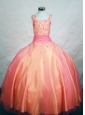 Multi-color Ball Gown Straps Beading Little Girl Pageant Dresses Custom Made