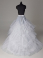 Three Layers A-line Brush Train Wedding Petticoat
