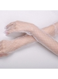 Transparent Voile Fingertips Opera Length Bridal Gloves