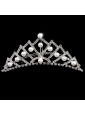 Lovely Tiara With Beaded and Imitation Pearl Decorate