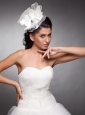 Beaded Taffeta and Organza Headpieces