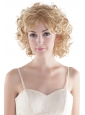 Cute Short Curly Blonde High Quality Synthetic Hair Wig