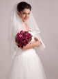 Elegant Rose Red Hand-tied Wedding Bridal Bouquet