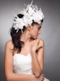 Lovely Headpieces Organza Hand Made Flowers