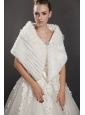 Luxurious Button Faux Fur Fold-over Collar Wraps / Shawls