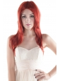 Medium Long High Quality Synthetic Red Straight Hair Wig