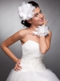 Organza Headpieces Hand Made Flowers Wedding Wrist Corsage