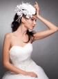 Pearls Hand Made Flowers Taffeta Headpieces