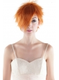 Super Hot Orange Short High Quality Synthetic Hair Wig