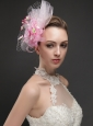 Gorgeous Net With Flowers Ribbons Women 's Fascinators