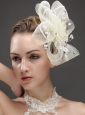Fashionable Flower Shaped Fascinators Adorned With Imitation Pearls And Rhinestones