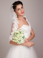 Elegant Round Shaped Hand-tied Wedding Bouquet