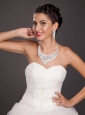 Gorgeous Alloy Crystal Bridal Jewelry Set Including Necklace With Earrings