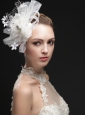Luxurious Net Women 's Fascinators With Hand Made Flowers And Ribbons