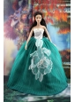 Elegant Green Gown With Appliques Dress For Quinceanera Doll