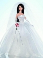 Embroidery Ball Gown Wedding Quinceanera Doll Dress