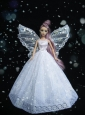New Amazing White Handmade Party Dress Quinceanera Doll Clothes Gown For Quinceanera Doll