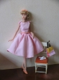 New Fashion Princess Pink Dress Gown For Quinceanera Doll
